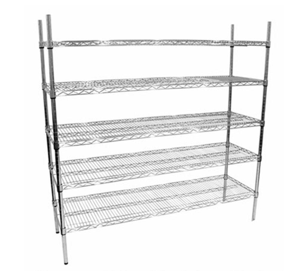 expensive and generic Chrome Wire shelving unit